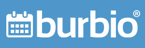 Burbio Logo Blue Background